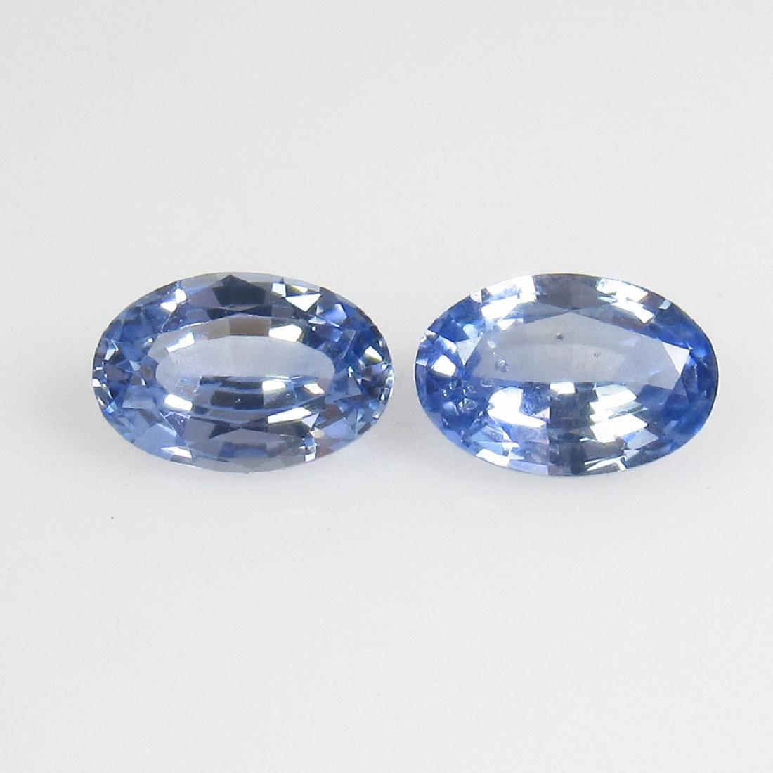 1.01 Ct Genuine Ceylon Blue Sapphire 6X4 mm Matching