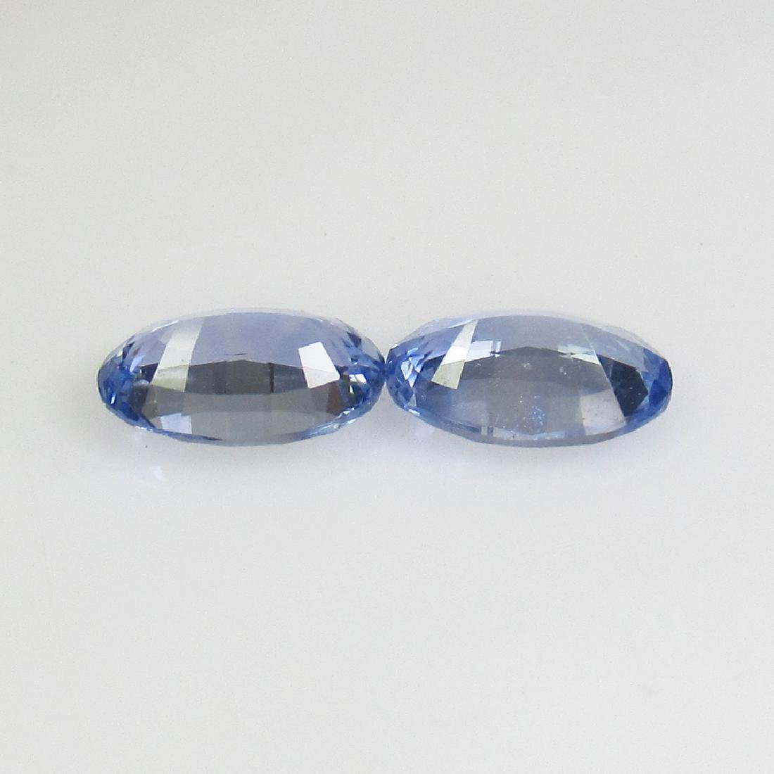 1.01 Ct Genuine Ceylon Blue Sapphire 6X4 mm Matching - 2