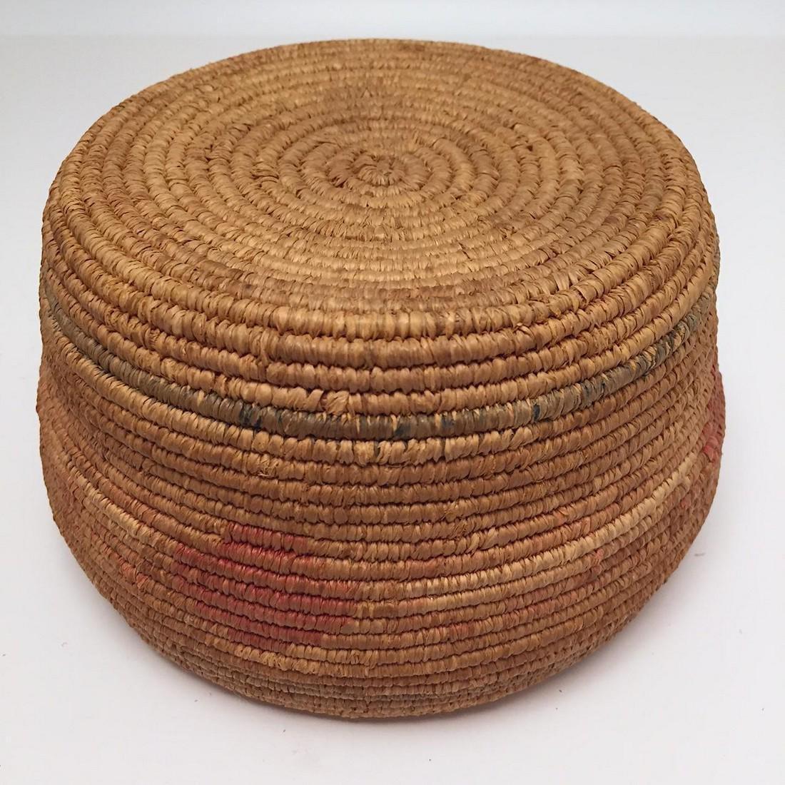 Northwest Coast Salish Lidded Coiled Basket - 3