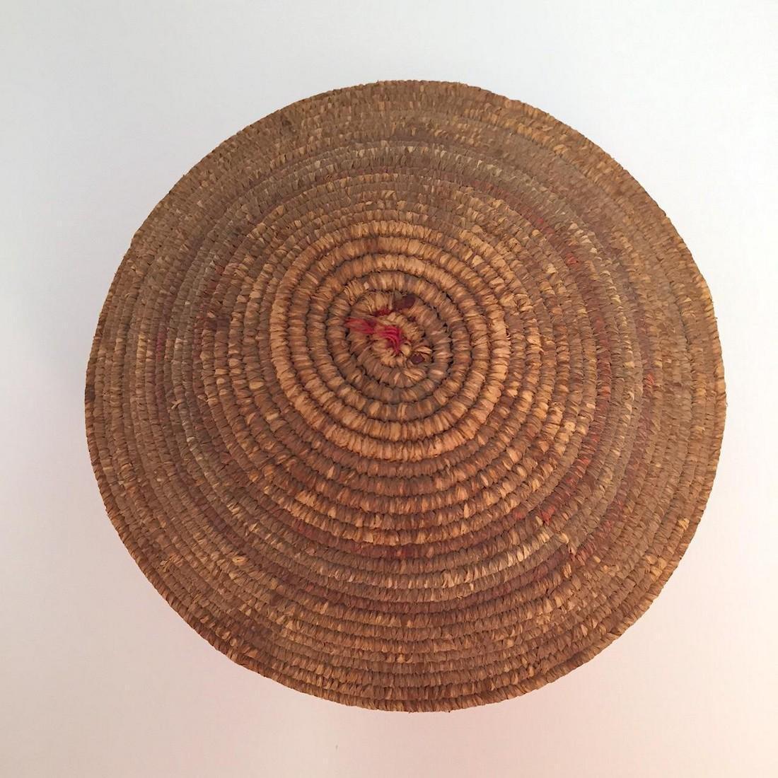 Northwest Coast Salish Lidded Coiled Basket - 4