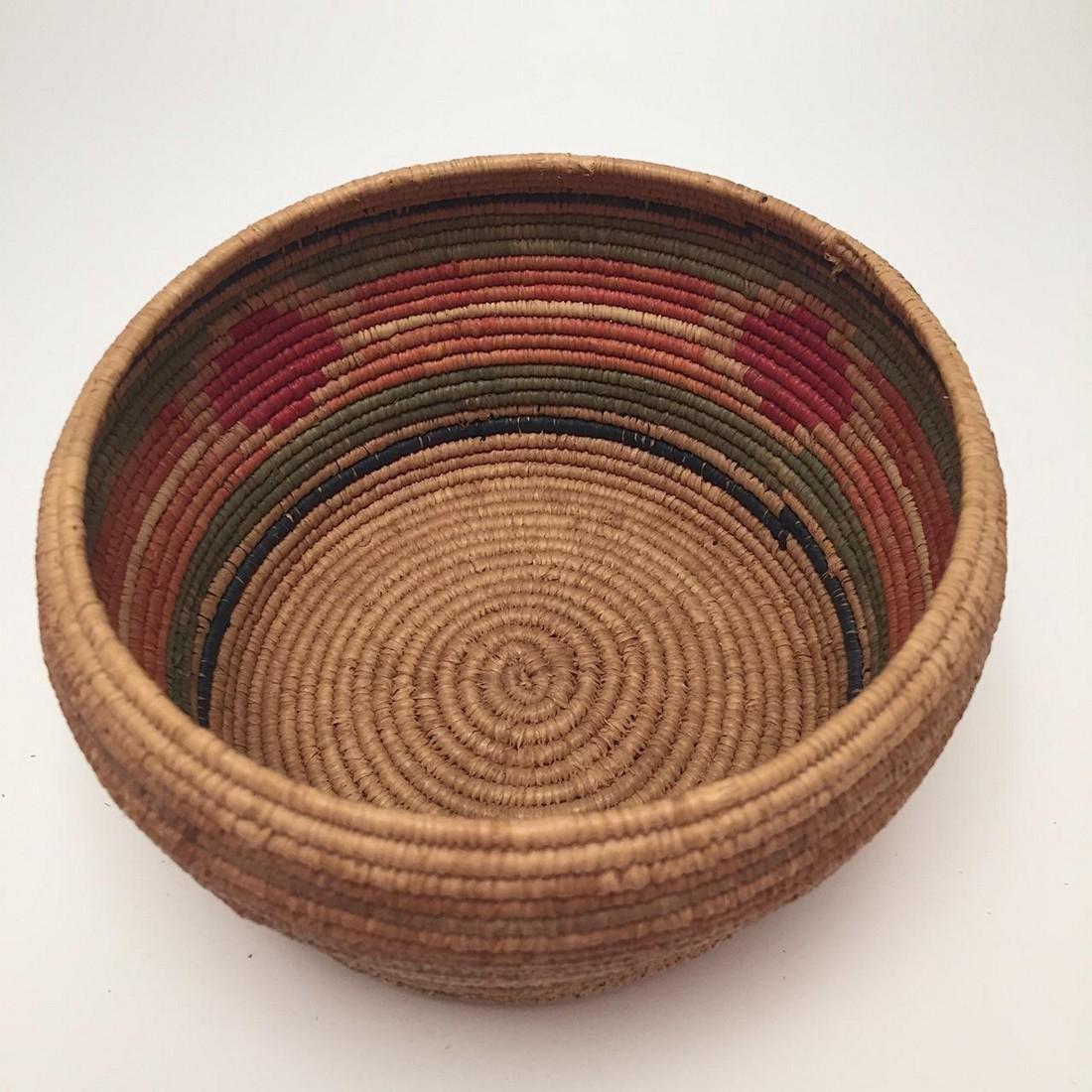 Northwest Coast Salish Lidded Coiled Basket - 7