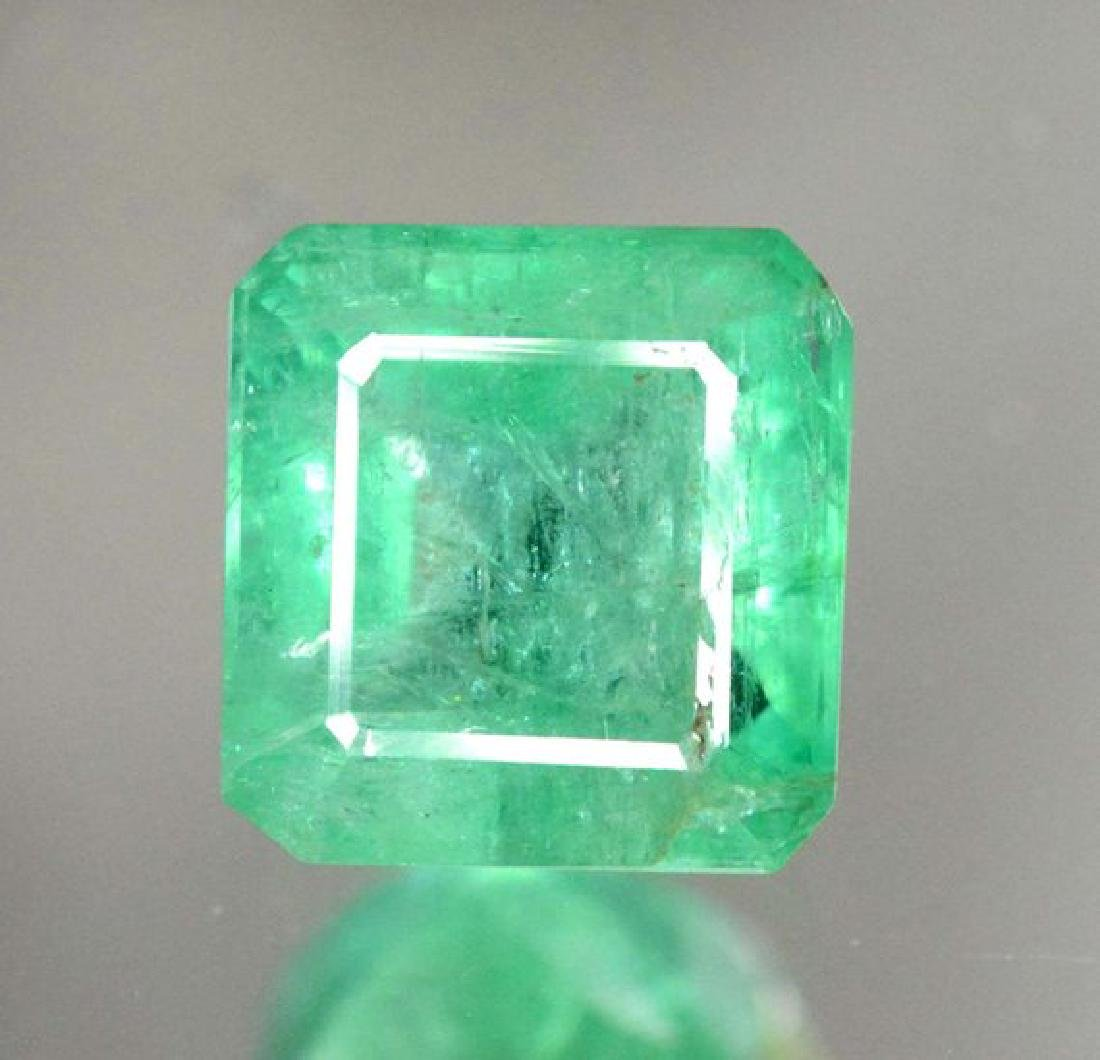 1.85 cts Stunning Emerald Cut Swat Emerald Gemstone
