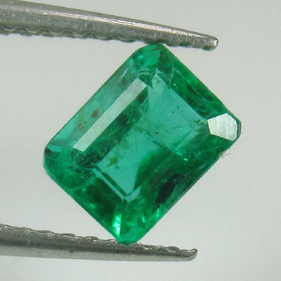 0.87 Ctw Natural Emerald Octagon cut