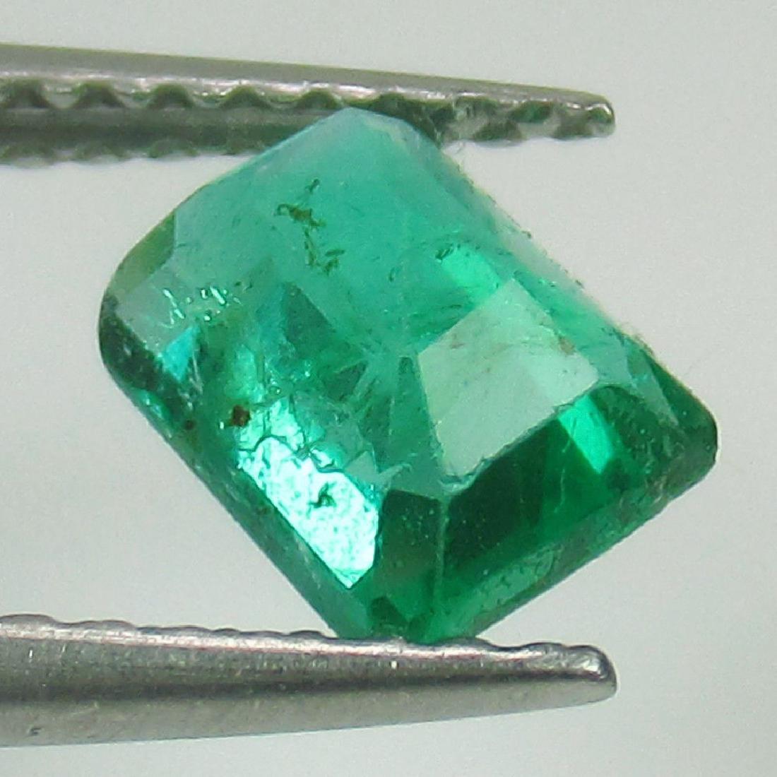 0.87 Ctw Natural Emerald Octagon cut - 2
