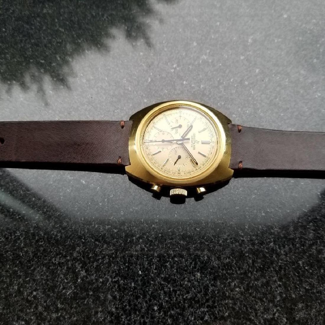 Breitling Vintage Chronograph Rare 1970s Cal.1873 Mens - 4