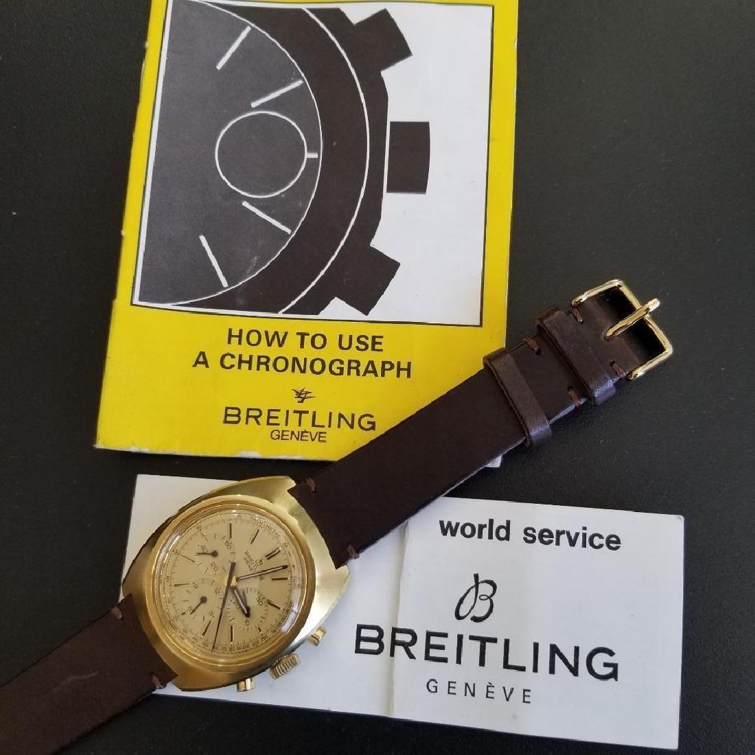 Breitling Vintage Chronograph Rare 1970s Cal.1873 Mens - 8