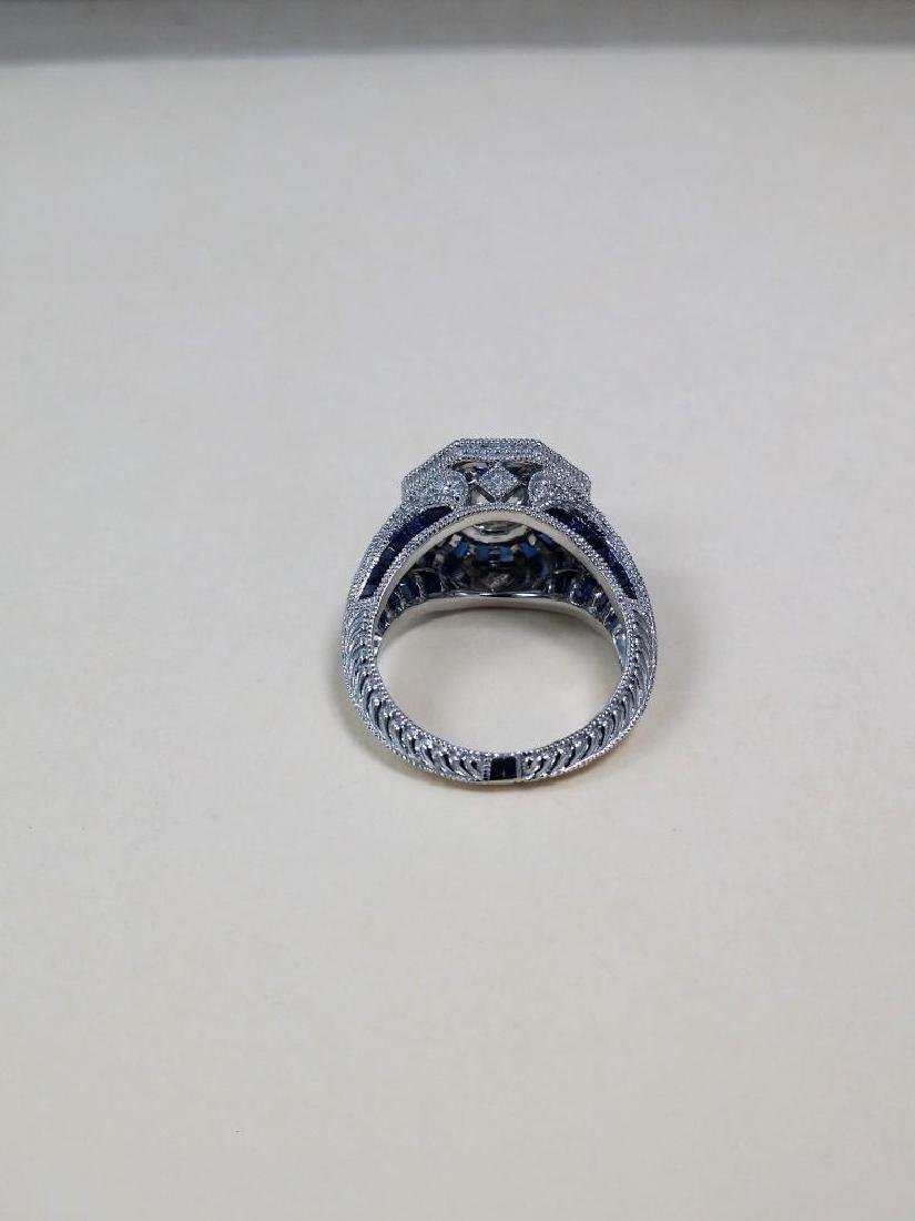 Vintage style diamond ring with 2.28ct of sapphire - 7