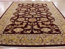 Hand Knotted Wool MAROON GOLD LARGE NEW Persian Tabrizz
