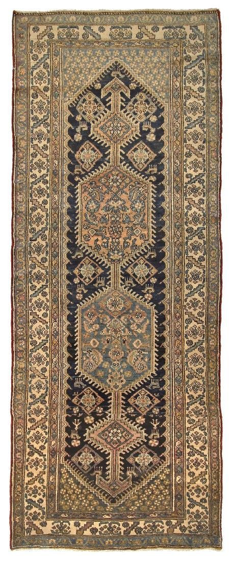 Rare Antique Malayer Farahan Runner Rug Persia Wool