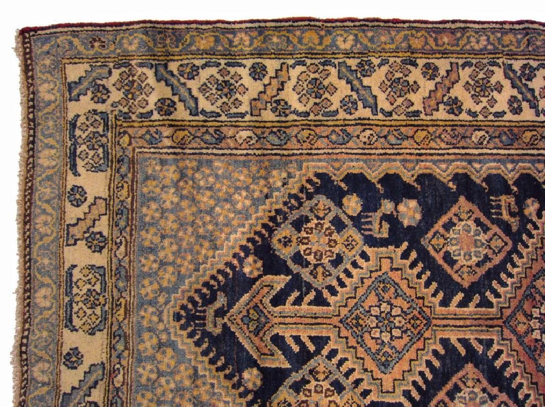 Rare Antique Malayer Farahan Runner Rug Persia Wool - 3