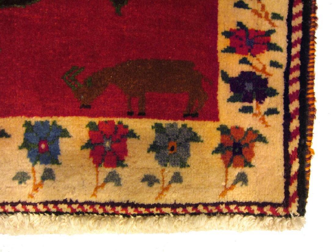 Rare Vintage Persian Gashghai Rug Tribal Hunting Design - 3