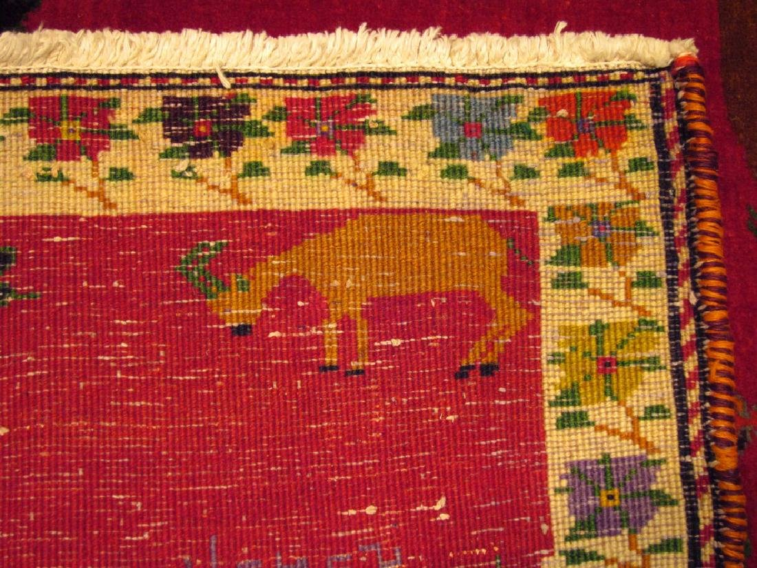 Rare Vintage Persian Gashghai Rug Tribal Hunting Design - 5