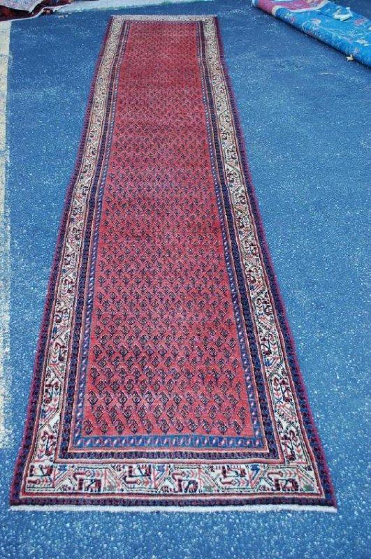 1930s Antique Kork Wool Persian Sarouk Rug 3' x 16'