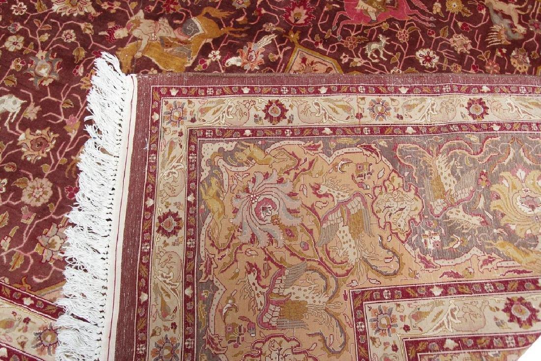 Exceptional Vintage Tabriz Rug Persian Hunting Fine - 10