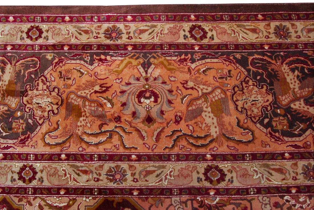 Exceptional Vintage Tabriz Rug Persian Hunting Fine - 4