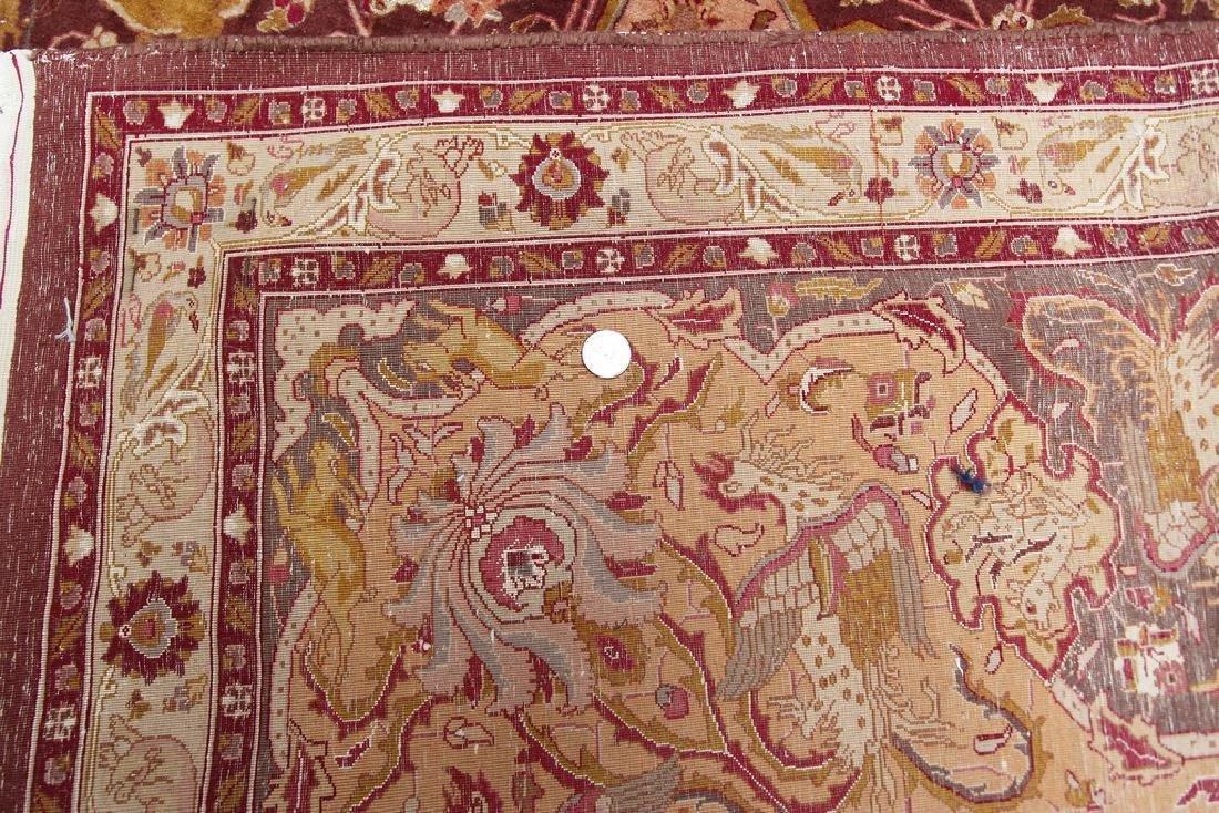 Exceptional Vintage Tabriz Rug Persian Hunting Fine - 6