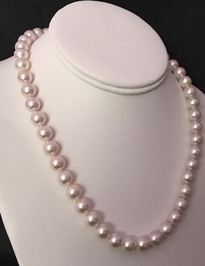 Certified $29,450 Mikimoto Akoya Pearl 9.5 mm 18Kt - 2