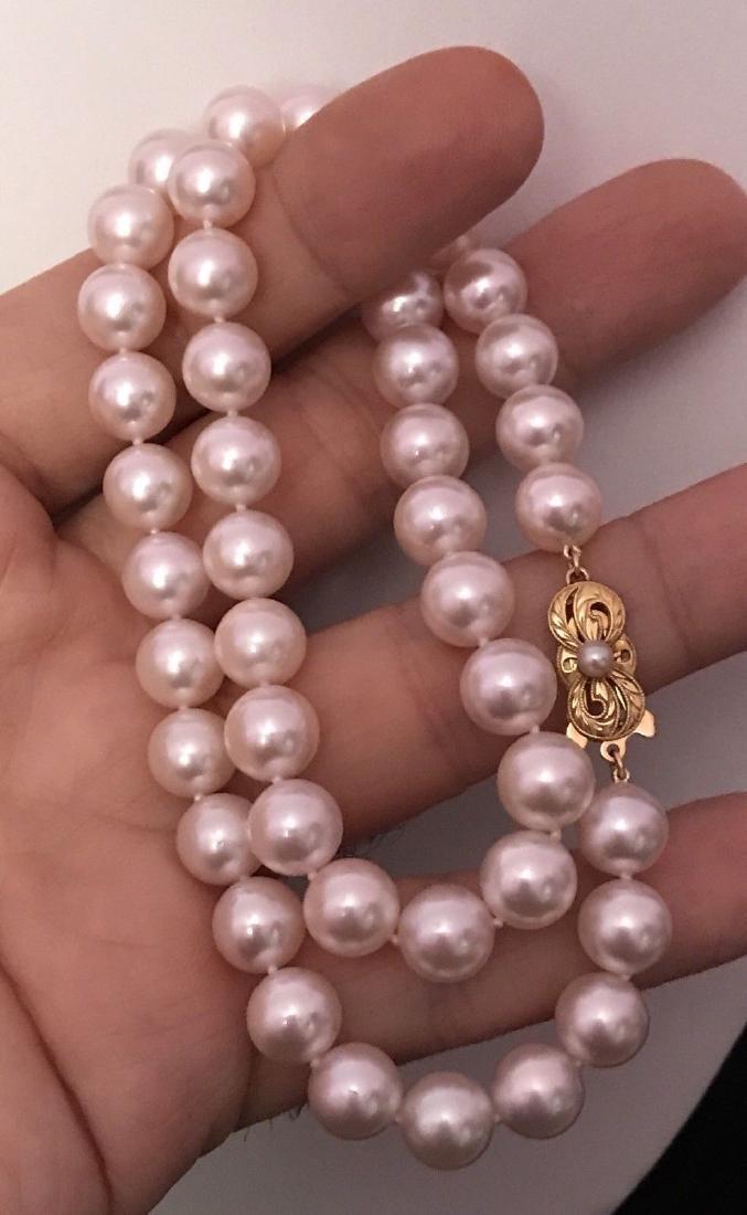 Certified $29,450 Mikimoto Akoya Pearl 9.5 mm 18Kt - 4