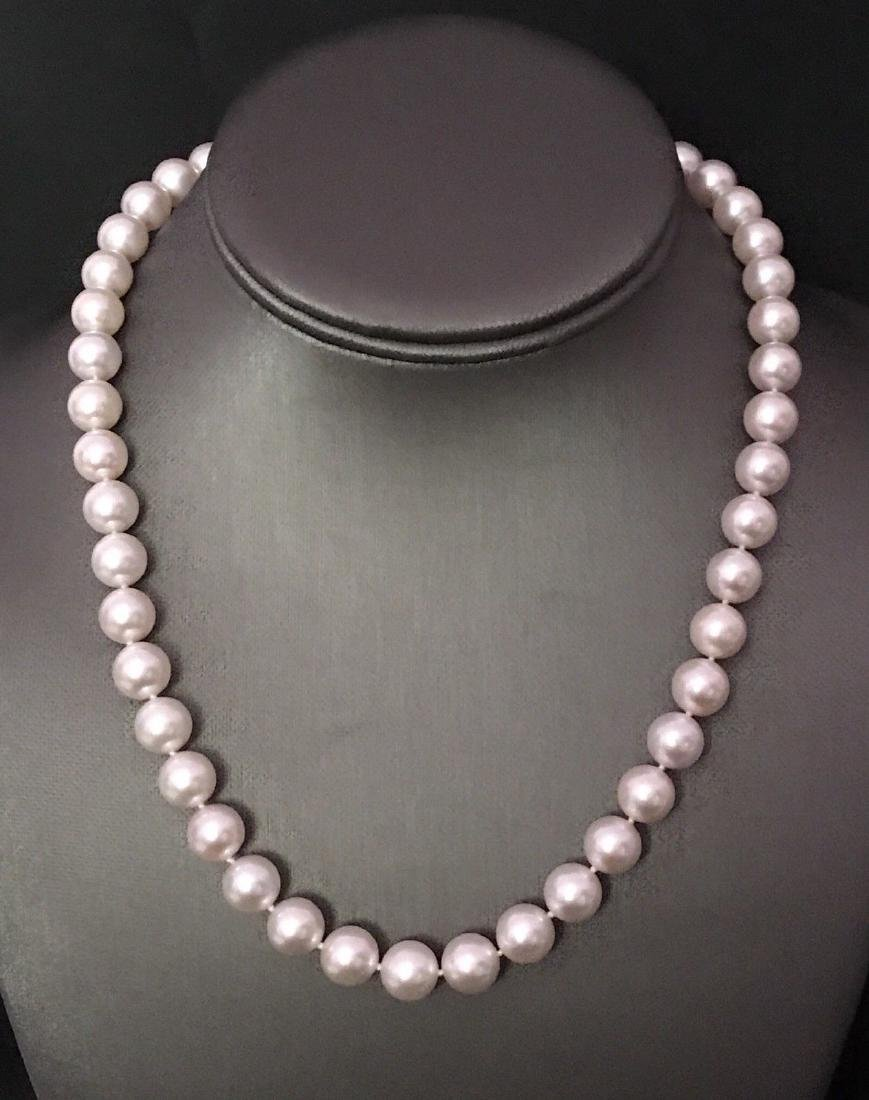 Certified $29,450 Mikimoto Akoya Pearl 9.5 mm 18Kt - 6