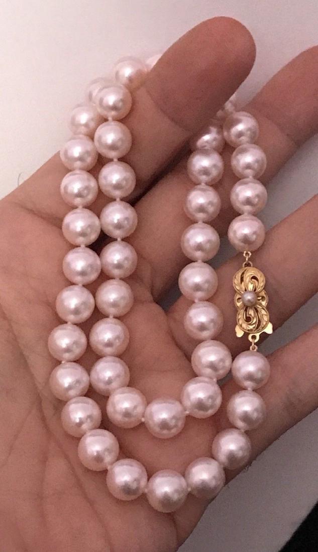Certified $29,450 Mikimoto Akoya Pearl 9.5 mm 18Kt - 8
