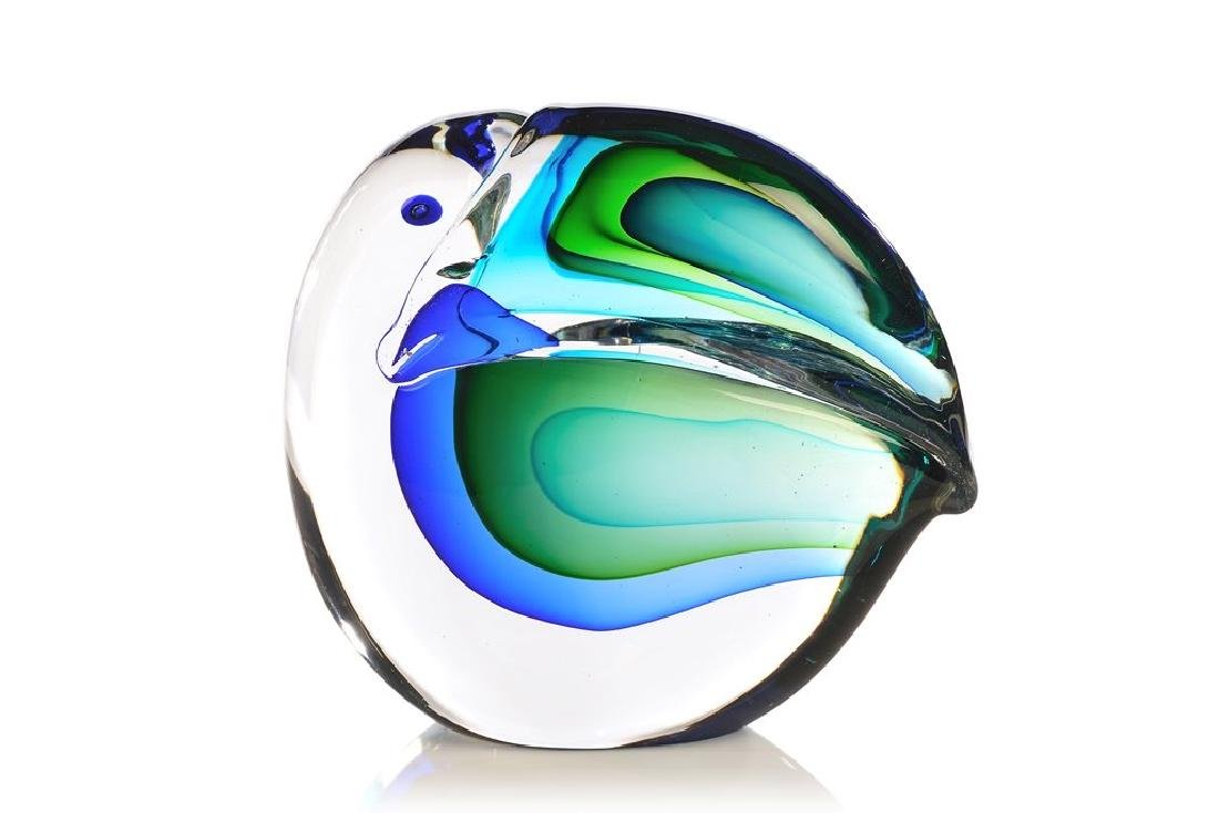 Large toucan in sommerso glass by Antonio da Ros for