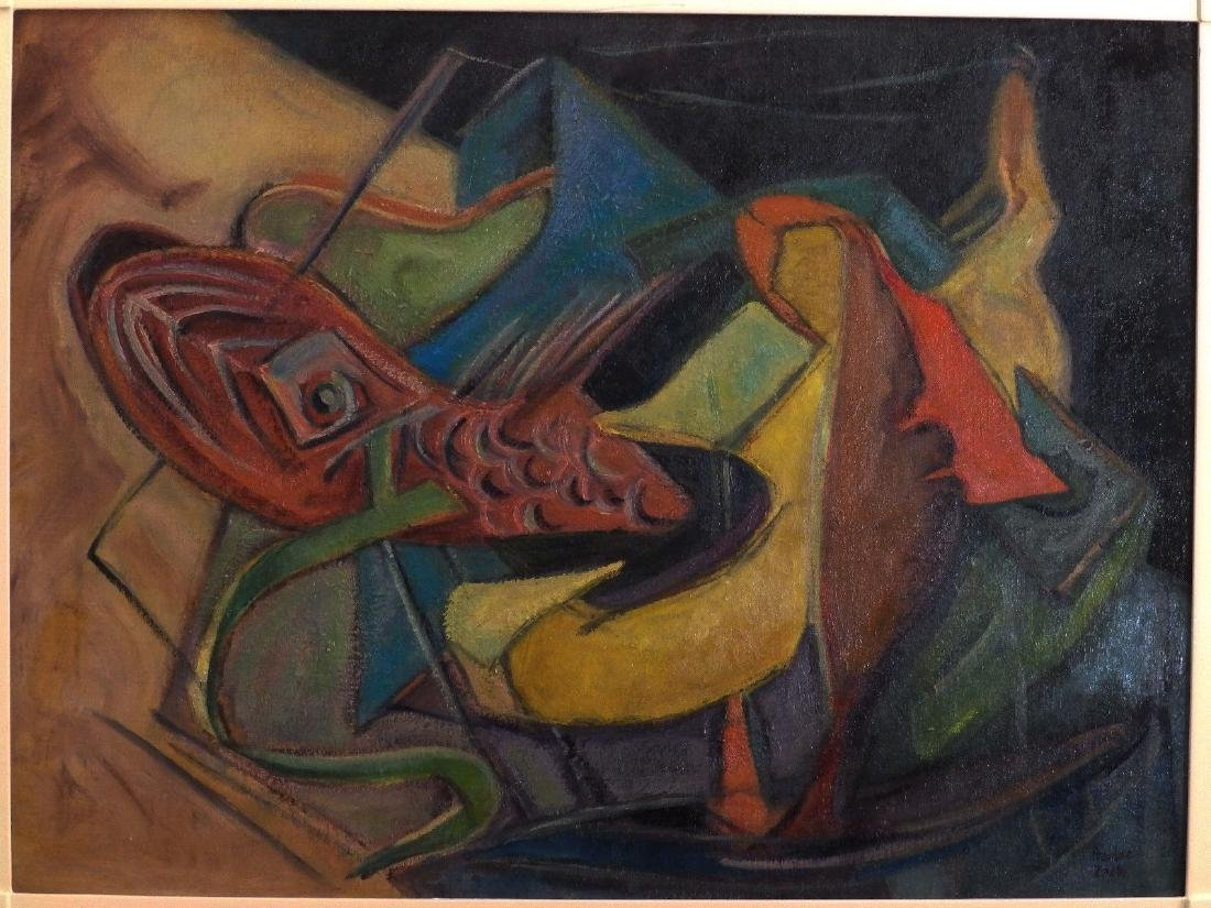 Haidee Zack (1893-1991) 'ABSTRACT SHAPES' Vintage Oil - 2