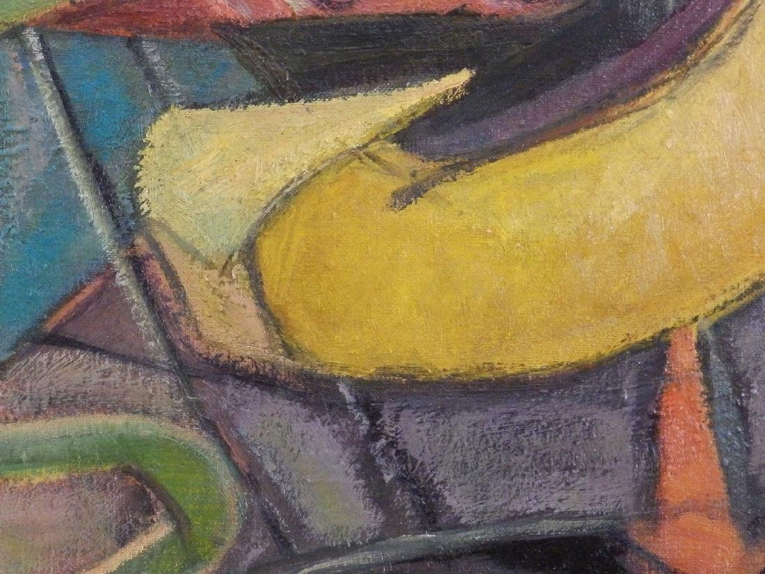 Haidee Zack (1893-1991) 'ABSTRACT SHAPES' Vintage Oil - 6