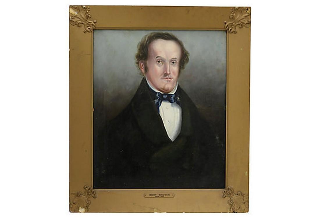 Antique English Oil Portrait of a Man