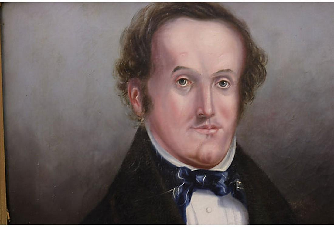 Antique English Oil Portrait of a Man - 2