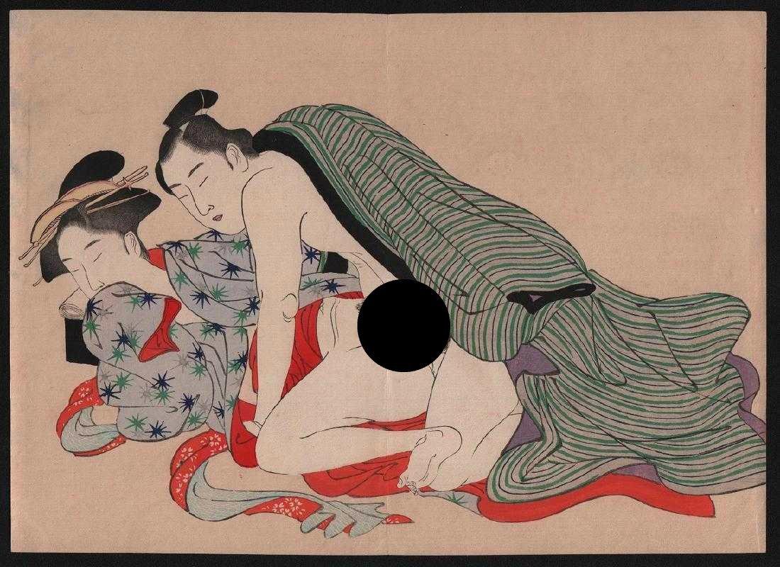After Utamaro Woodblock Shunga (erotic).