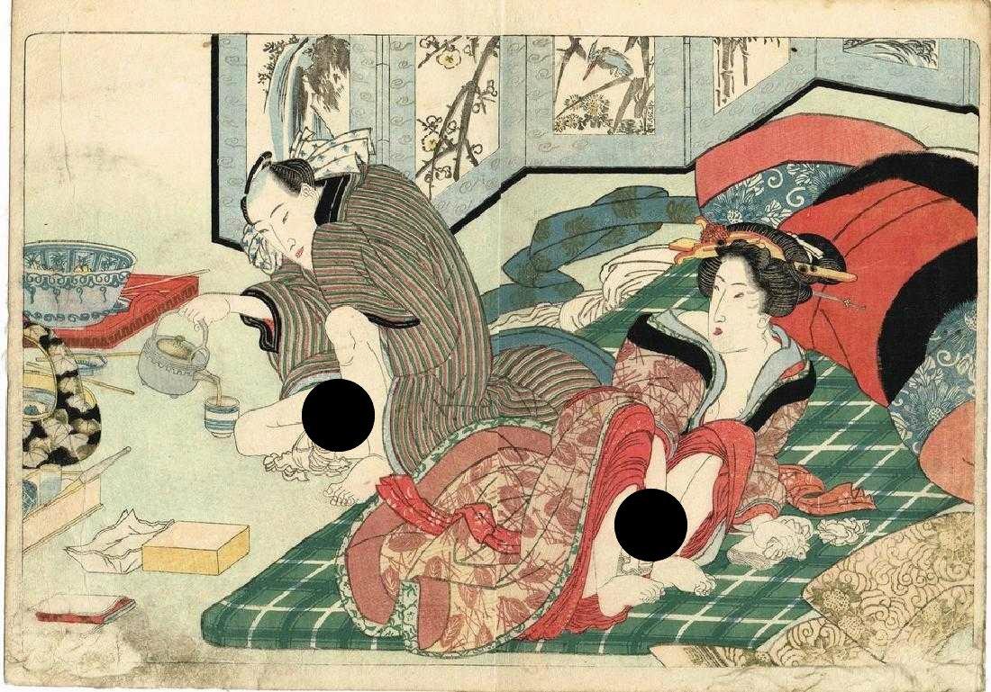 Yanagawa Shigenobu Woodblock tunes of the shamisen