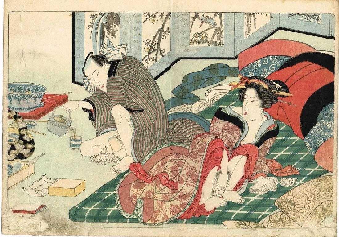 Yanagawa Shigenobu Woodblock tunes of the shamisen - 2