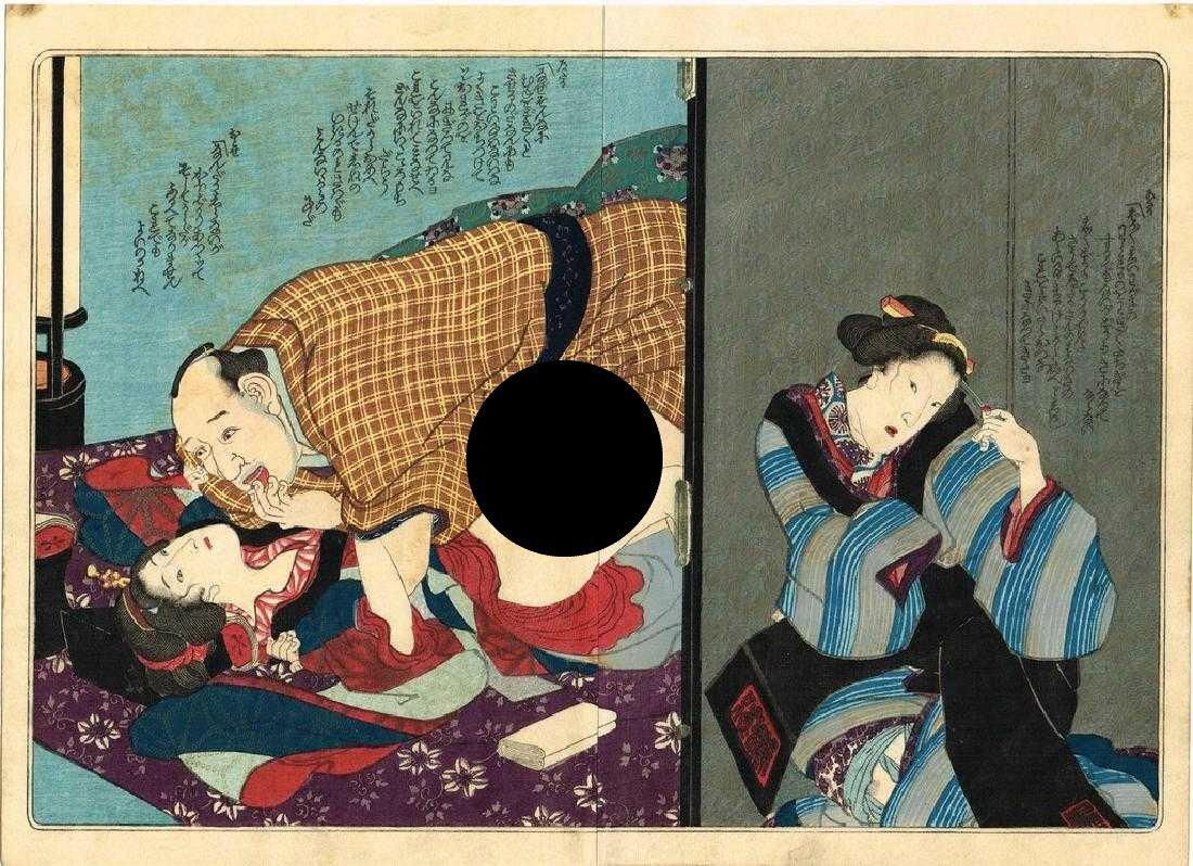 Utagawa Kunisada Woodblock true life in prince Genji's