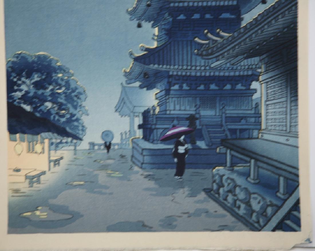 Benji Asada Woodblock Moon Over Kiyomizu Temple - 4