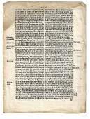 1559 English Law Leaf Elizabethan Printing