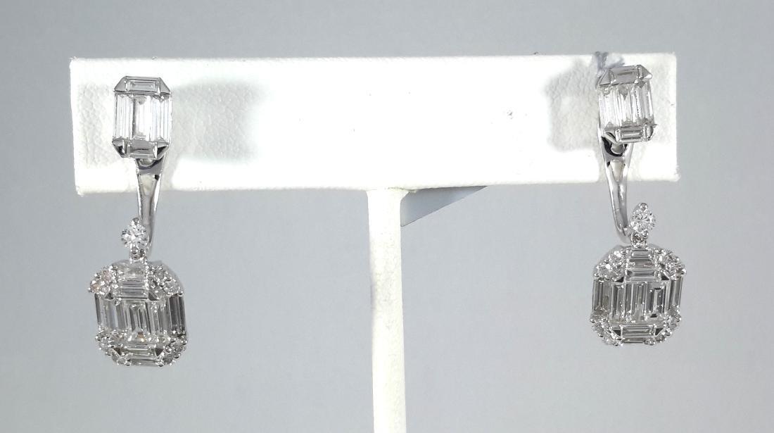 2.75ct Multi-Diamonds Stud/Dangle Earrings