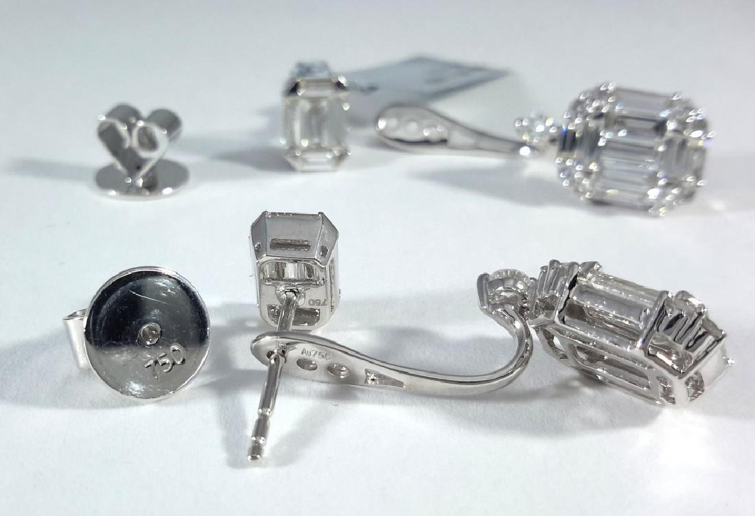 2.75ct Multi-Diamonds Stud/Dangle Earrings - 4