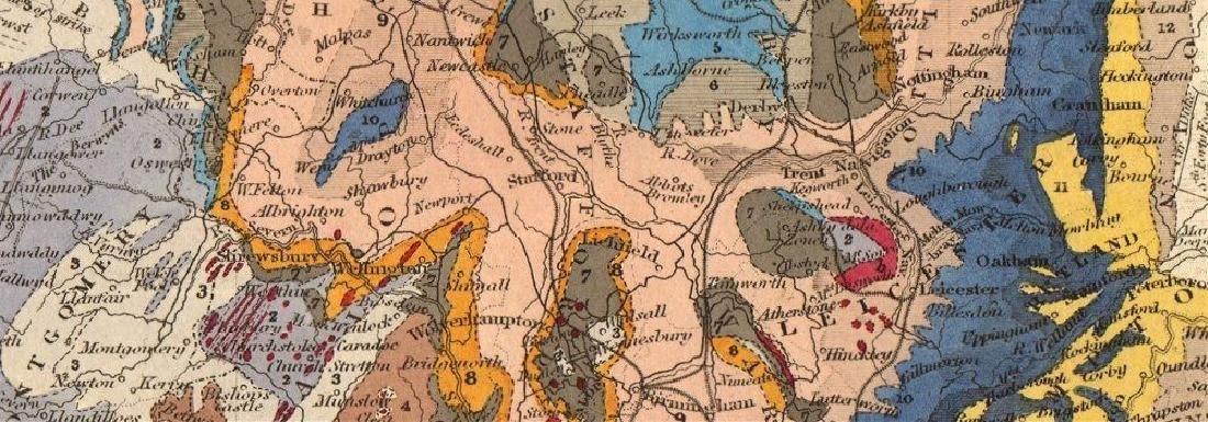 ENGLAND & WALES Geological Map. Original colour. - 2