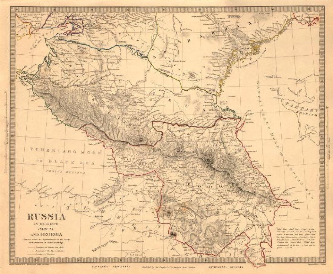 CAUCASUS. Russia Circassia Astrakhan Georgia