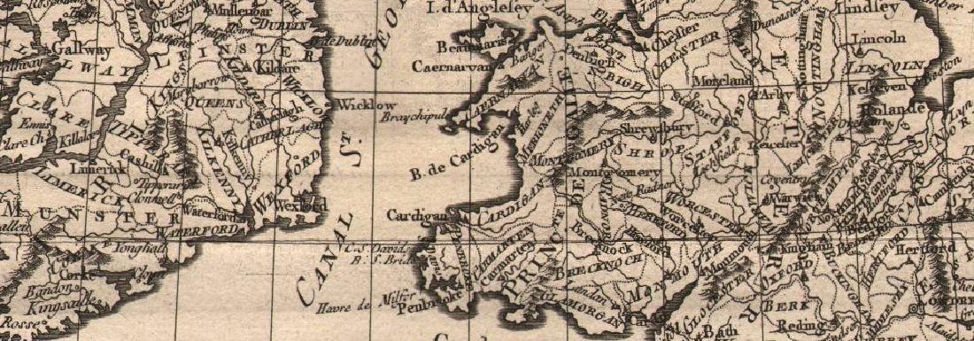 Carte des Isles Britanniques. British Isles. BONNE - 2