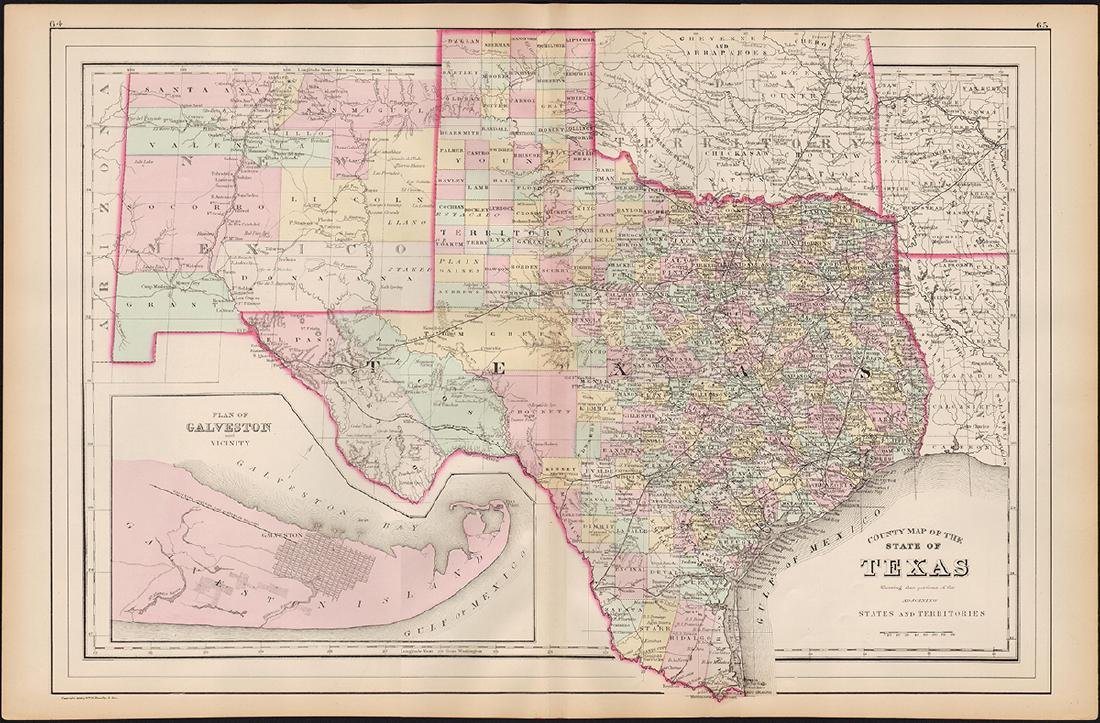 State Of Texas County Map.County Map Of The State Of Texas 1886 Nov 27 2018 Jasper52 In Ny