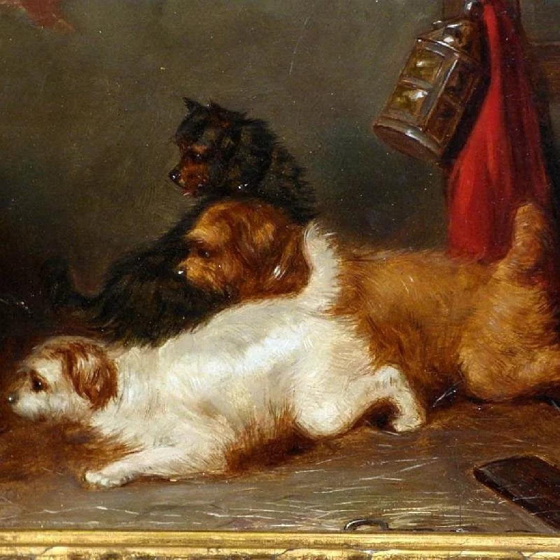 Victorian Painting of Terriers in a Barn, by George - 3