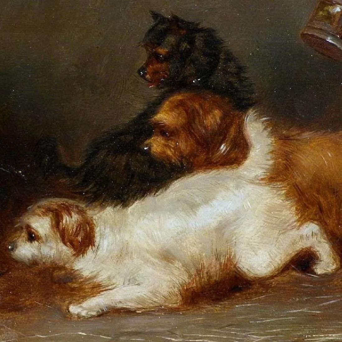 Victorian Painting of Terriers in a Barn, by George - 4