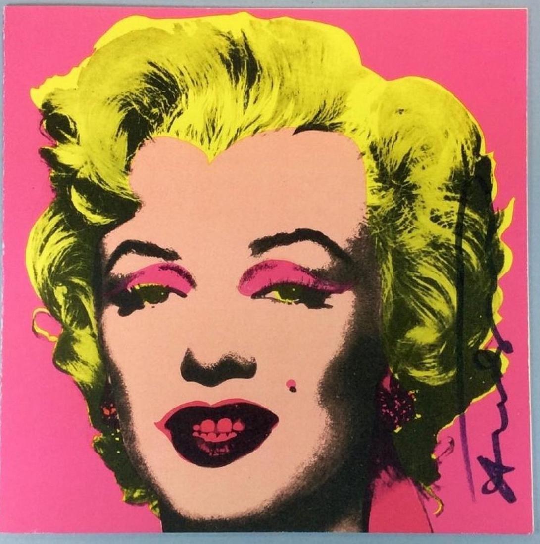 Andy Warhol Screenprint on paper Marilyn Castelli
