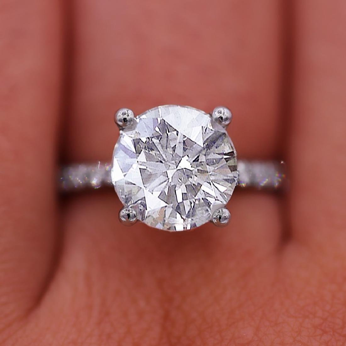 Certified 4.51 Carats Engagement Ring