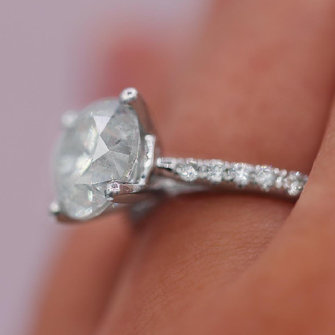 Certified 4.51 Carats Engagement Ring - 5