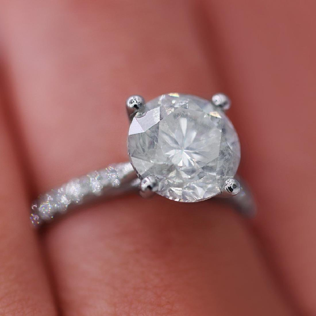 Certified 4.51 Carats Engagement Ring - 6