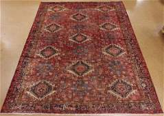 PERSIAN KARAJEH Tribal Hand Knotted Wool RED NAVY