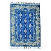 Royal Blue Silken Kashan 400 kpsi Hand Knotted Oriental