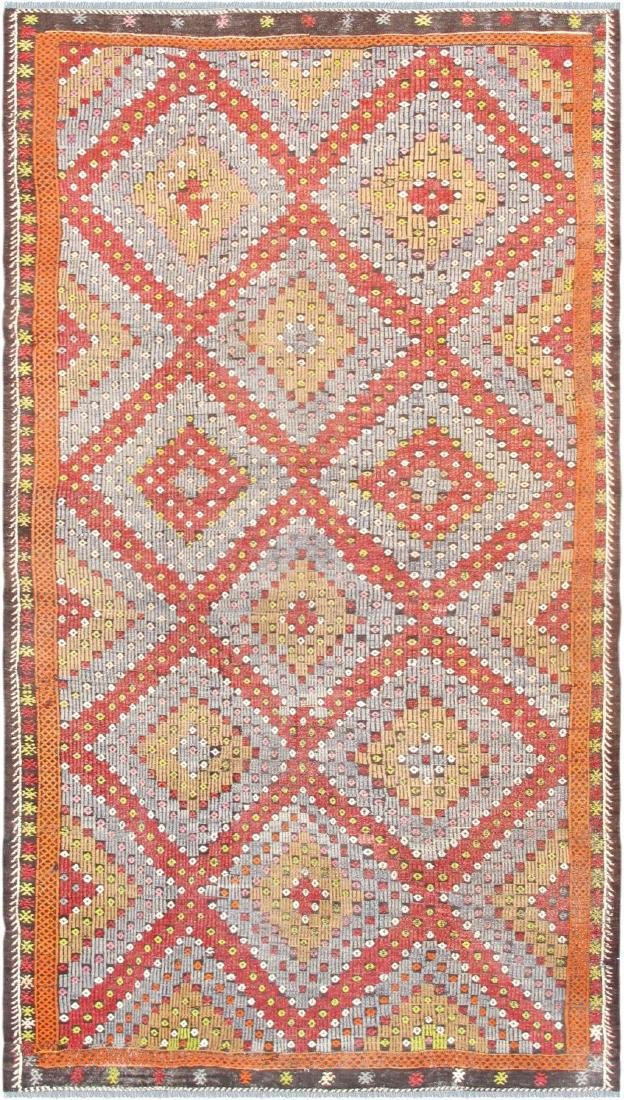 Vintage Kilim Collection Hand-Woven Lamb's Wool Area